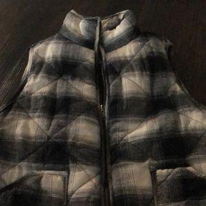 Blue plaid vest sz medium